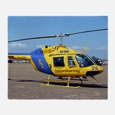 Helicopter (blue & yellow) Throw Blanket