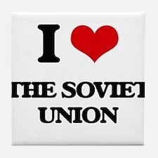 I love The Soviet Union Tile Coaster