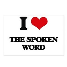 I love The Spoken Word Postcards (Package of 8)