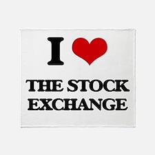 I love The Stock Exchange Throw Blanket