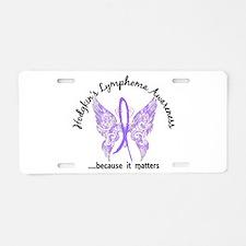 Hodgkin's Lymphoma Butterfl Aluminum License Plate