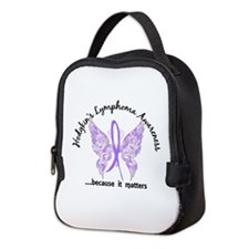 Hodgkin's Lymphoma Butterfly 6. Neoprene Lunch Bag