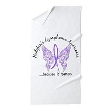 Hodgkin's Lymphoma Butterfly 6.1 Beach Towel