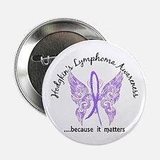 """Hodgkin's Lymphoma Butterfl 2.25"""" Button (10 pack)"""
