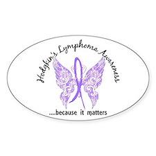 Hodgkin's Lymphoma Butterfly Decal