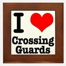 I Heart (Love) Crossing Guards Framed Tile