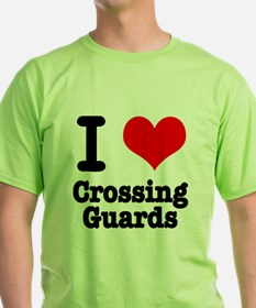 I Heart (Love) Crossing Guards T-Shirt