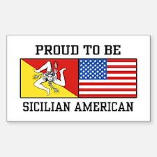 Sicilian American Rectangle Bumper Stickers