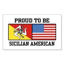 Sicilian American Rectangle Decal