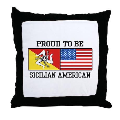 Sicilian American Throw Pillow