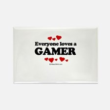 Everyone loves a gamer Rectangle Magnet