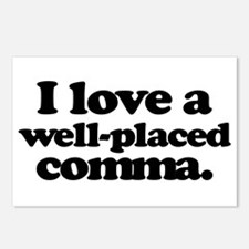 I love a well-placed comma. Postcards (Package of