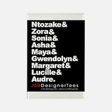 Ntozake & Blk W Writers Rectangle Magnet
