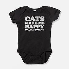 Cats Make Me Happy Baby Bodysuit