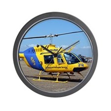Helicopter (blue & yellow) Wall Clock