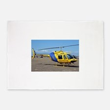 Helicopter (blue & yellow) 5'x7'Area Rug