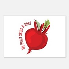 My Heart Skips A Beet Postcards (Package of 8)