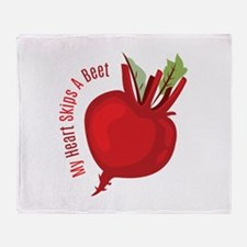 My Heart Skips A Beet Throw Blanket