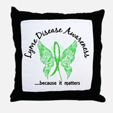 Lyme Disease Butterfly 6.1 Throw Pillow