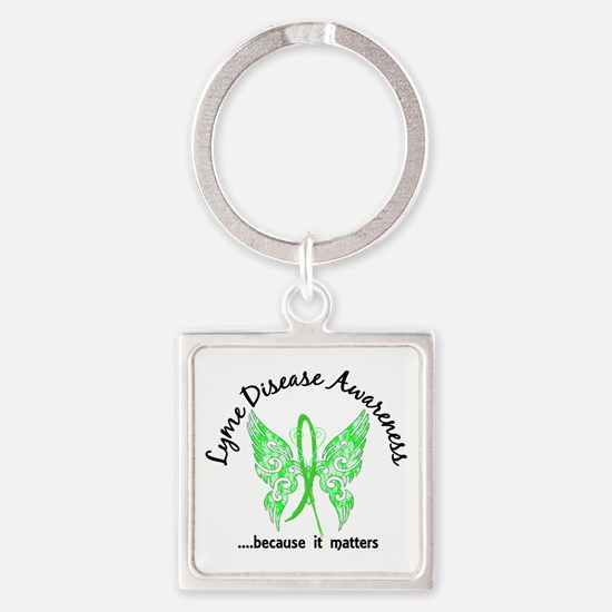 Lyme Disease Butterfly 6.1 Square Keychain
