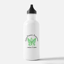 Lyme Disease Butterfly Water Bottle