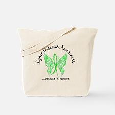 Lyme Disease Butterfly 6.1 Tote Bag