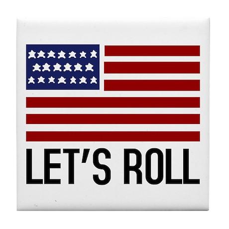 Let's Roll Tile Coaster