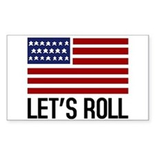 Let's Roll Sticker (Rect.)