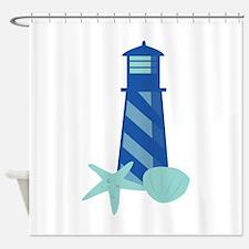 Lighthouse Base Shower Curtain