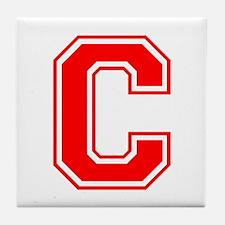 C-var red Tile Coaster
