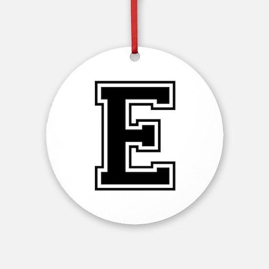 E-var black Ornament (Round)