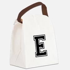 E-var black Canvas Lunch Bag
