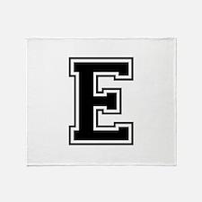 E-var black Throw Blanket