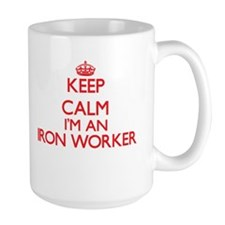 Keep calm I'm an Iron Worker Mugs