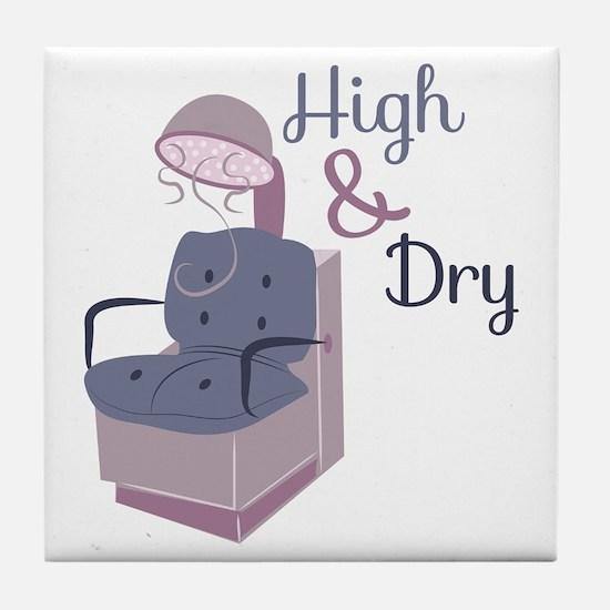 HairDryerHigh&Dry Tile Coaster