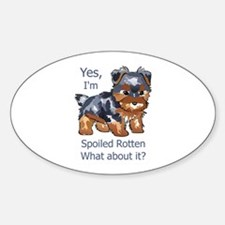 SPOILED ROTTEN YORKIE Decal