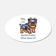 SPOILED ROTTEN YORKIE Wall Decal