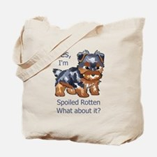 SPOILED ROTTEN YORKIE Tote Bag