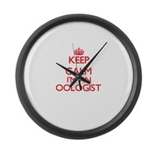 Keep calm I'm an Oologist Large Wall Clock