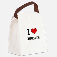 I love Throats Canvas Lunch Bag