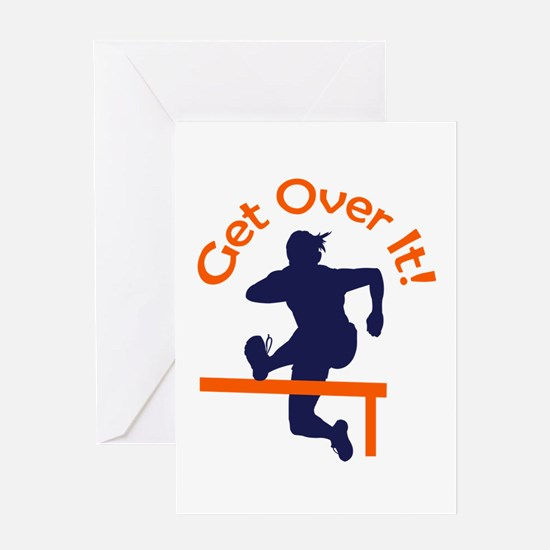 GET OVER IT Greeting Cards