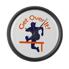 GET OVER IT Large Wall Clock