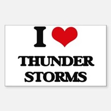 I Love Thunder Storms Decal