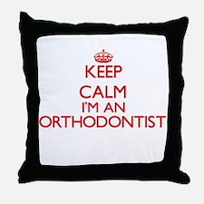 Keep calm I'm an Orthodontist Throw Pillow