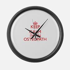 Keep calm I'm an Osteopath Large Wall Clock