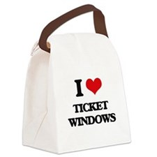 I love Ticket Windows Canvas Lunch Bag