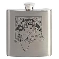 St. Patricks Girl Flask