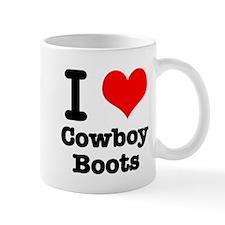 I Heart (Love) Cowboy Boots Mug