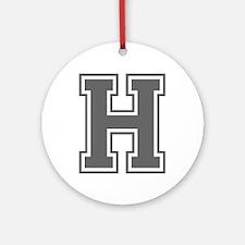 H-var gray Ornament (Round)