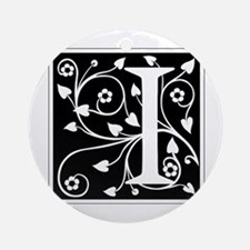 I-ana black Ornament (Round)